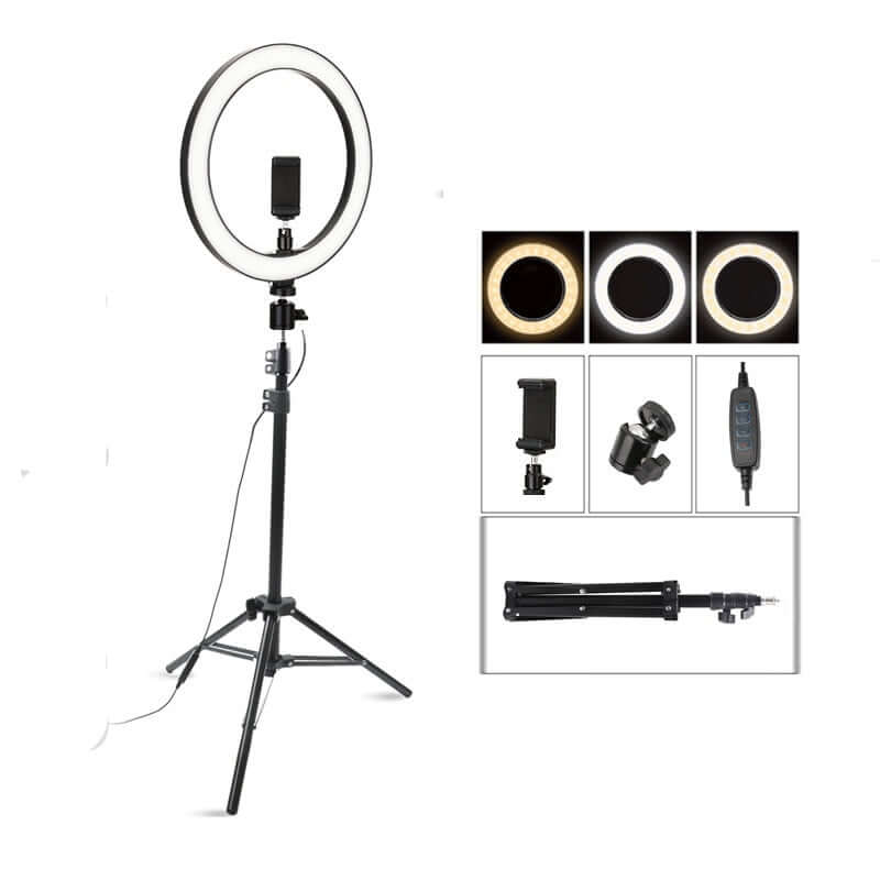 LED Photographer Vlogger Makeup Selfie Ring Light with 160cm Tripod