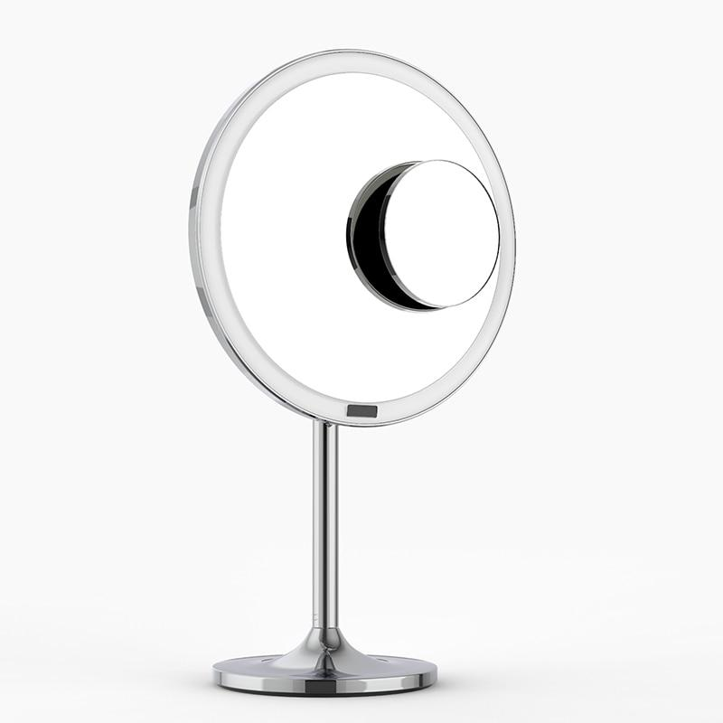 Smart Sensor Desktop Vanity LED Light Touch Screen Makeup Mirror