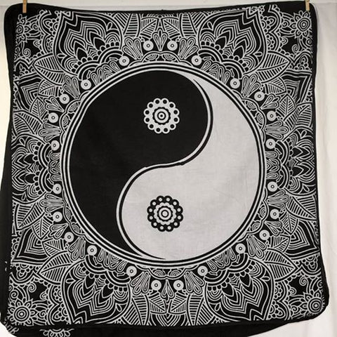 Large Square Cushion Cover - Ying Yang