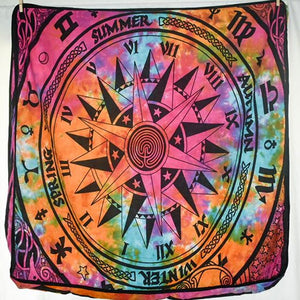 Large Square Cushion Cover - Rainbow Compass