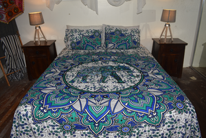 Spearmint Elephant Queen Size Doona Cover Set