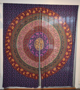 Curtains - Purple Traditional Design