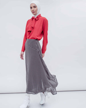 BLANC - Assymetrical Skirt