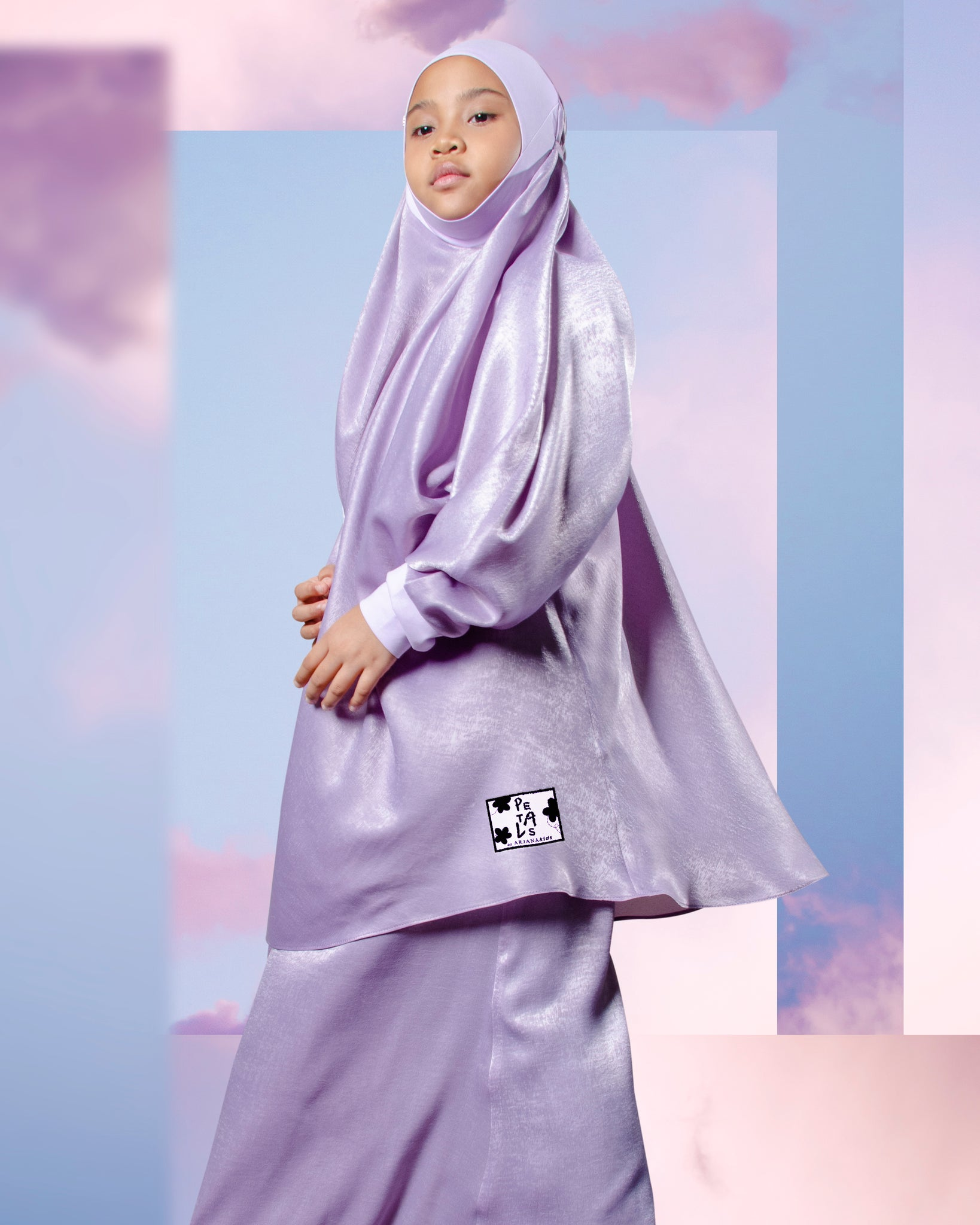 Telekung ARJANA Rose Junior - Lilac