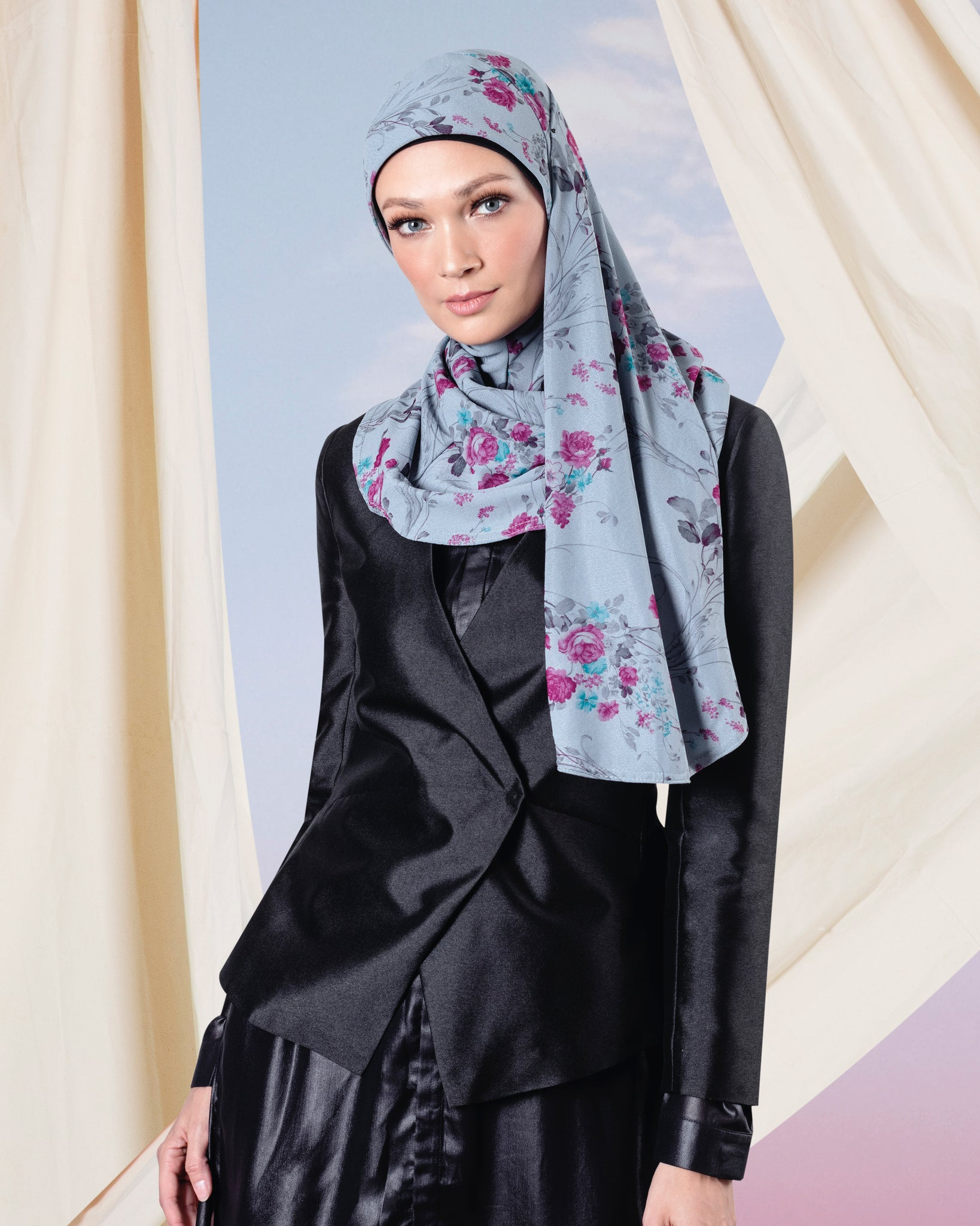 Floral Instant Hijab