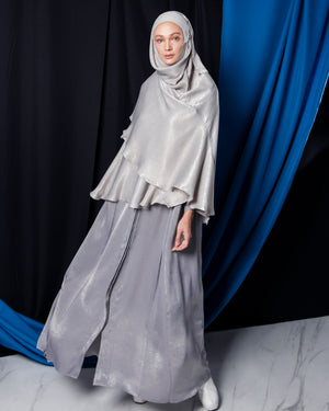 ARJANA Delfi Shirt-Dress + ARJANA Mini-Telekung (Grey)