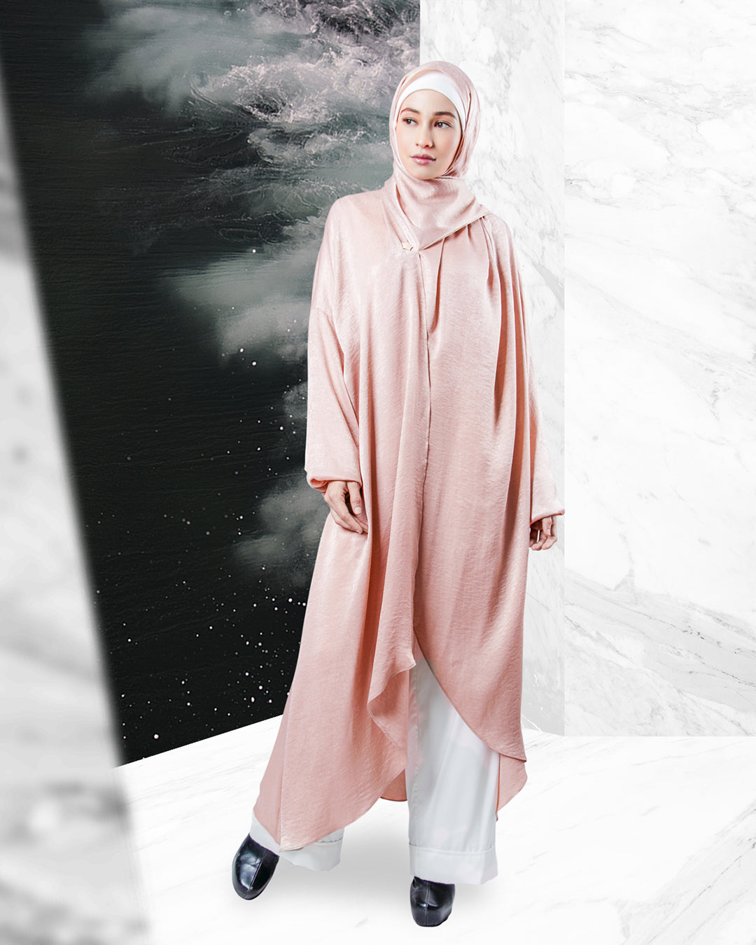 ARJANA Orchid Abaya (Mosque-Friendly)