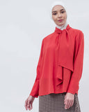 BLANC - Knot Up Collar Blouse