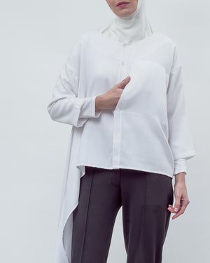 BLANC - Side Frill Top