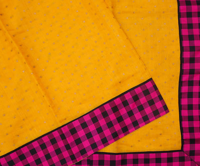 Yellow Bailu Sequence With Kanchi Silk Border