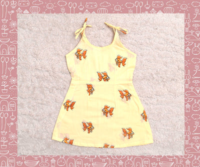 Bhagirathi - Sandal With Orange Fish Printed Frock