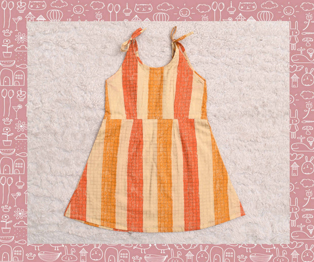 Bhagirathi - Multi Colour With Gold Checks Frock (2yrs)