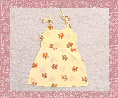 Bhagirathi - Sandal With Orange Fish Printed Frock (2yrs)