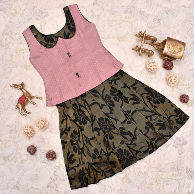 Onion Pink With Black Frock