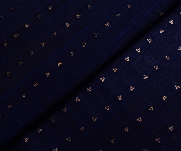 Indigo Blue Bailu Silk Fabric