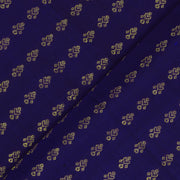 Ms Blue Kanchi Silk Fabric With Kamal Button Design