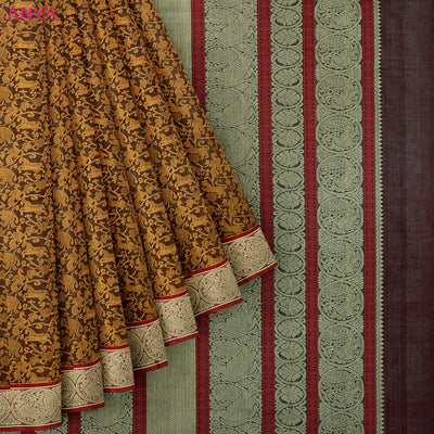 Brown Kanchi Cotton Saree