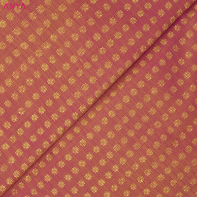 Dual Tone Pink And Mustard Kanchi Silk Fabric