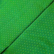 Dual Tone Green Kuligai Button Kanchi Silk Fabric