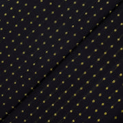 Black 3 Kuligai Button Kanchi Silk Fabric