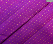 Purple Kanchi Silk Fabric With 3 Kuligai Button Design Highlights