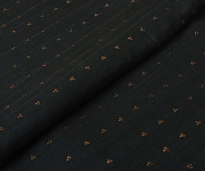 Black Bailu Silk Fabric