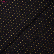 Black Kanchi Silk Fabric With Kuligai Button Design