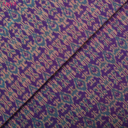 Violet Ikkat Silk Fabric
