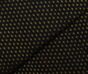 Black 4 Kuligai Button Kanchi Silk Fabric