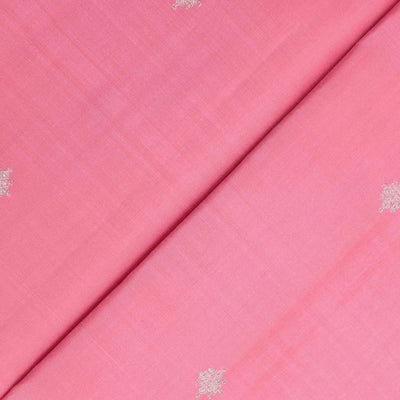Pink Peach Kanchi Silk Fabric With Butta