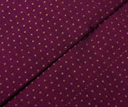 Magenta Pink Kanchi Silk Fabric With Dotted Zari Butta Highlights