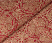 Red Color Antique Banarasi Silk Fabric