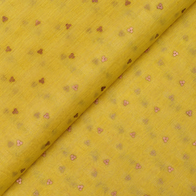 Yellow Bailu Silk Fabric