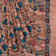 Onion Pink Pen Kalamkari Saree