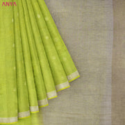 Avacado Green Linen Saree