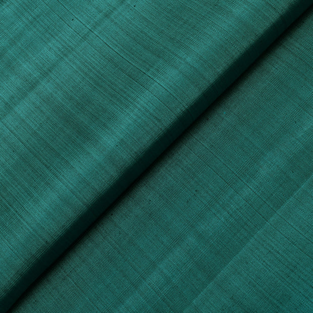 Cobalt Green Kanchi Silk Fabric
