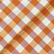 Multi Color Checked Kanchi Silk Fabric