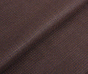 Brown Tussar Fabric with Self Checks