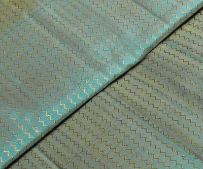 Baby Blue Kanchi Silk Fabric With Zigzag Design