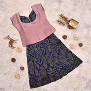 Onion Pink Top With MS Blue Skirt