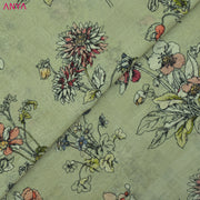 Apple Green Maheshwari Silk Fabric