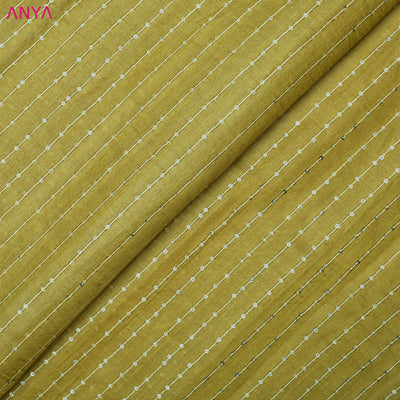 Dijon Yellow Tussar Silk Fabric