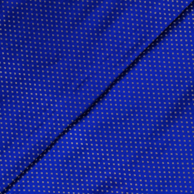 Ink Blue 4 Kuligai Button Satin Banarasi Silk Fabric