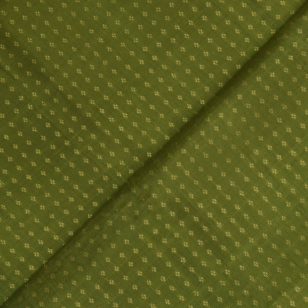 Olive Green Kuligai Kanchi Silk Fabric