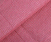Pink Tussar Fabric with Self Checks