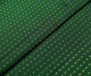 Bottle Green Kanchi Silk Fabric With With Highlighted Zari