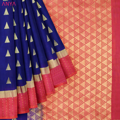 Navy Blue Soft Silk Saree