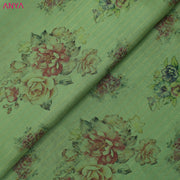 Apple Green Floral Printed Kanchi Silk Fabric