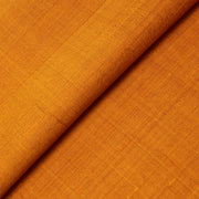 Fire Orange Raw Silk Fabric