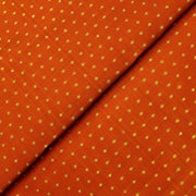 Dark Orange 3 Kuligai Button Kanchi Silk Fabric